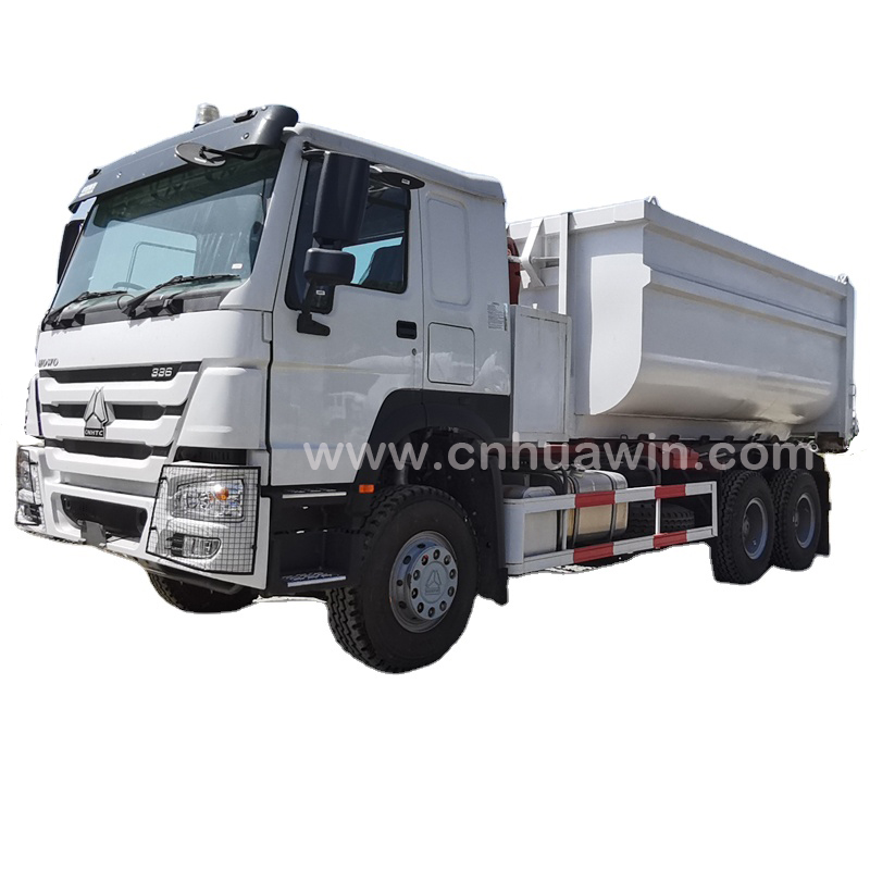 HOWO 6x4 20-25 CBM Carriage Removable Garbage Disposal Truck