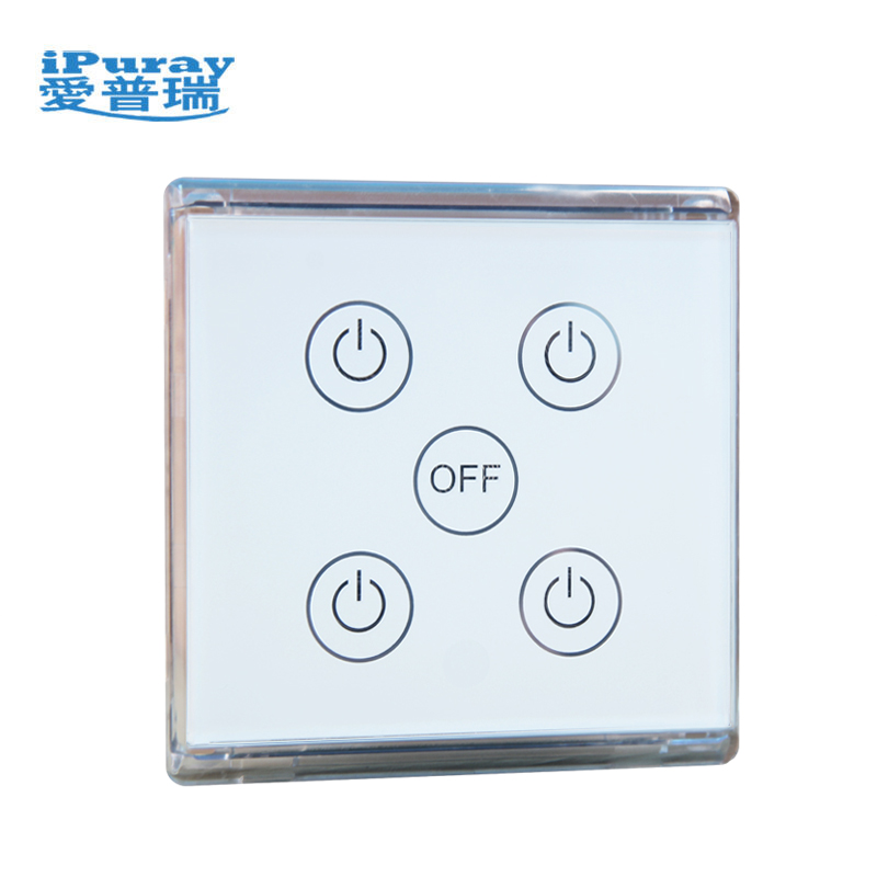 4 Gang Glass Panel Delay Off Switch