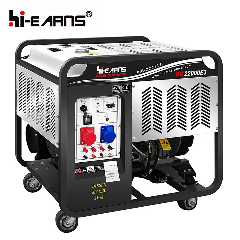 16KW open air cooled two cylinder diesel generator