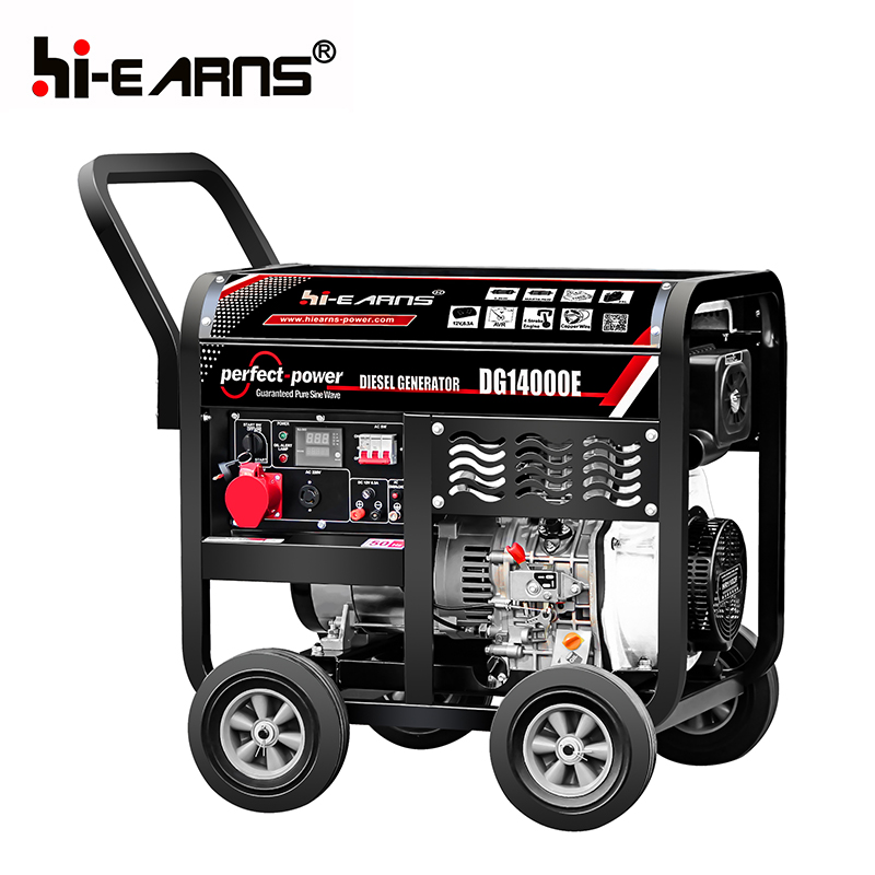 11KW open air cooled two cylinder diesel generator