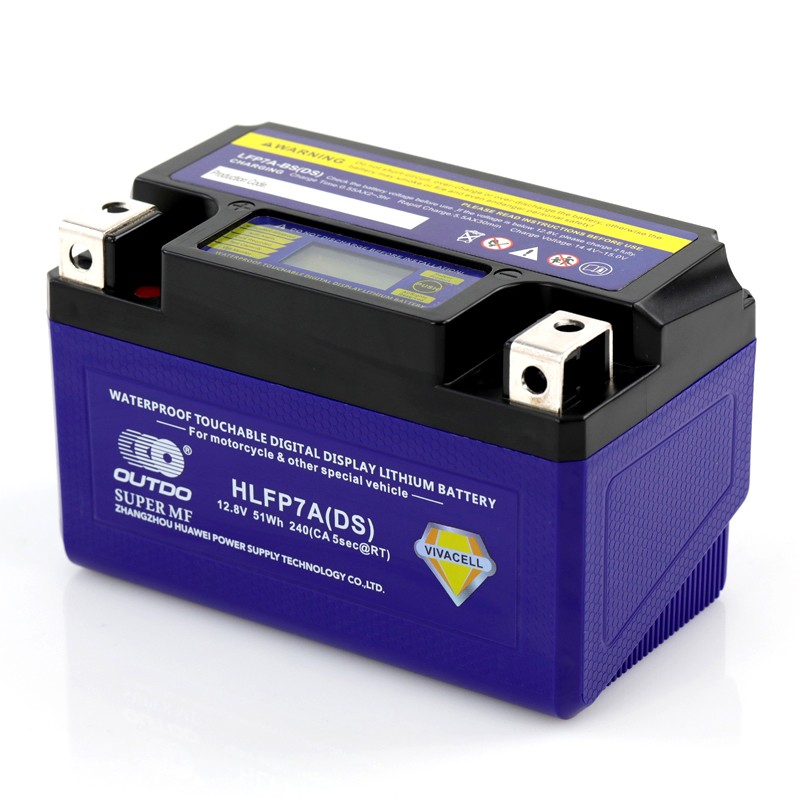Digital display lithium battery for motorcyc