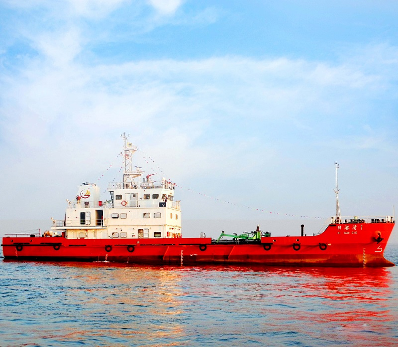 500T oil spilling recovery ship