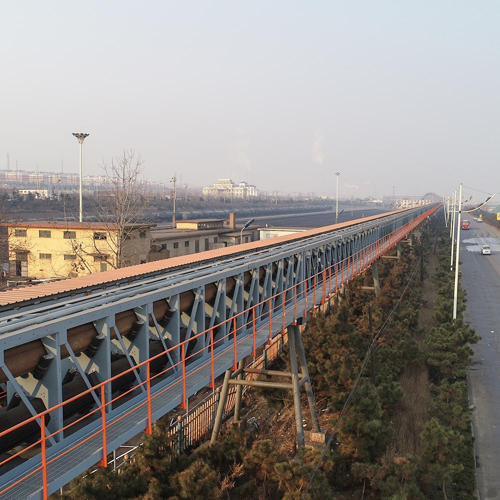 Lanshan Port Pipe Belt Conveyor Double Line Truss