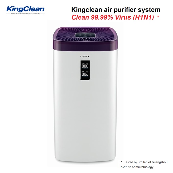 Air purifier with PM2.5 and TVOC screen - KJ608