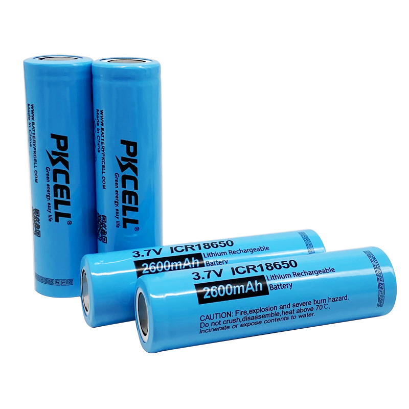 Rechargeable Lithium ion 3.7v 18650 2600mAh