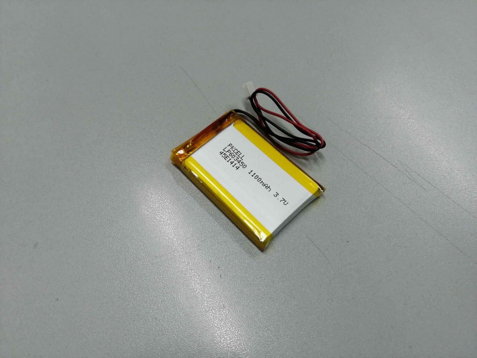 Li-Polymer rechargeable battery 603450 1100MAH3.7v
