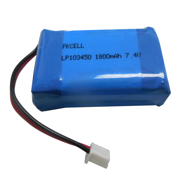 Li-Polymer rechargeable battery103450 1800MAH7.4v