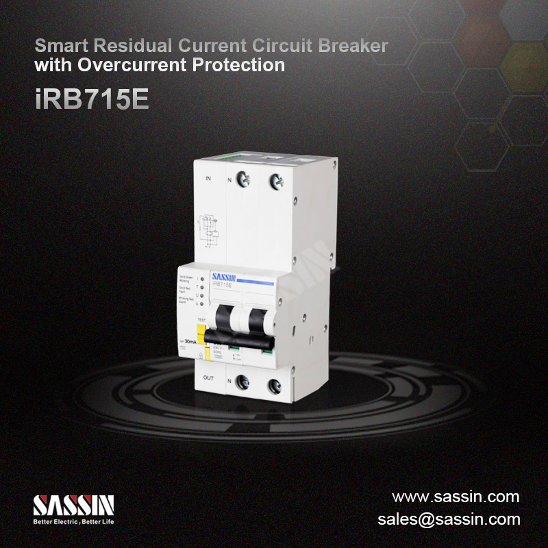 Smart Residual Current Circuit Breaker with Overcurrent Protection