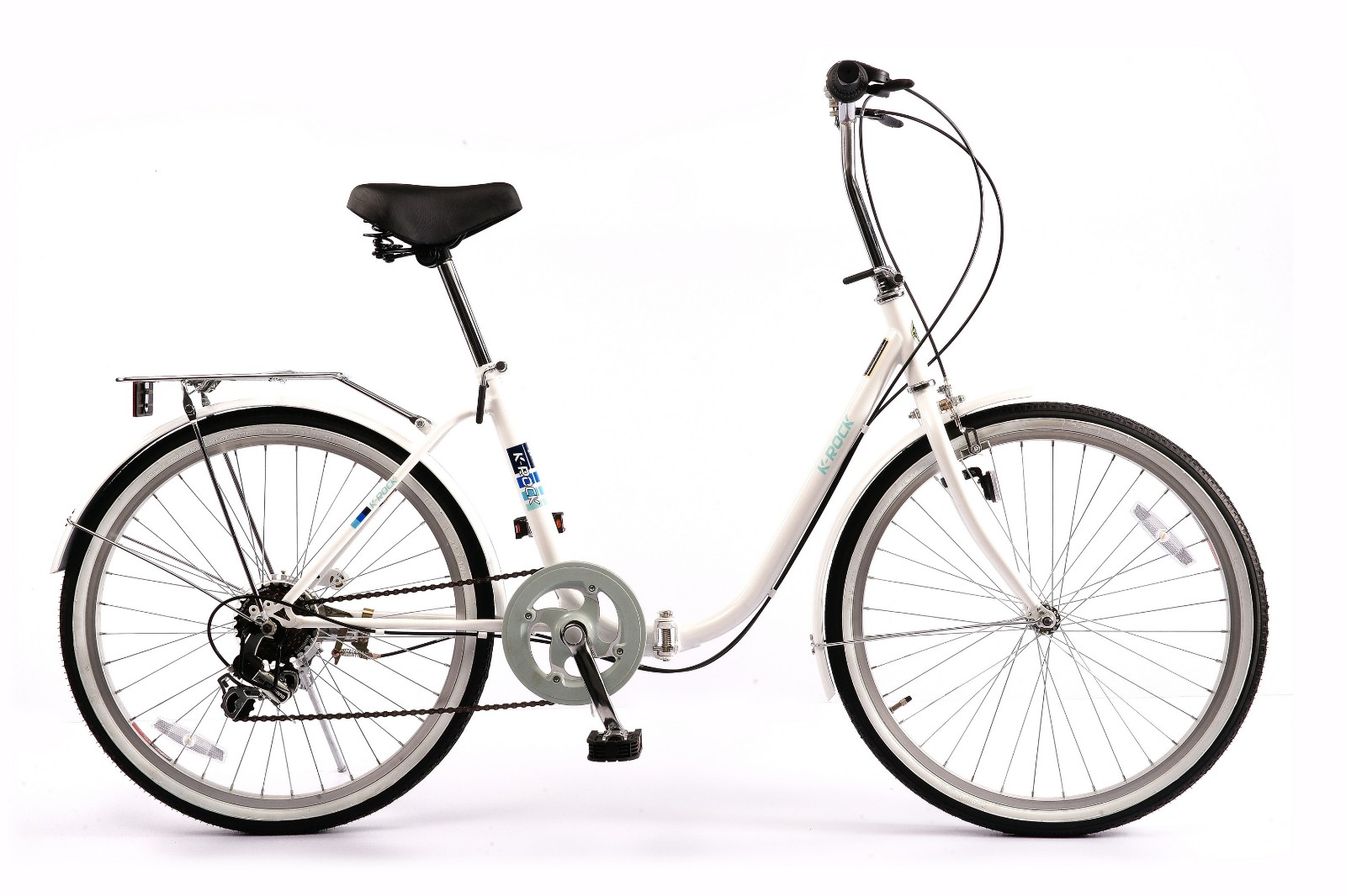 24 INCH STEEL FOLDING BICYCLE with 6 speeds