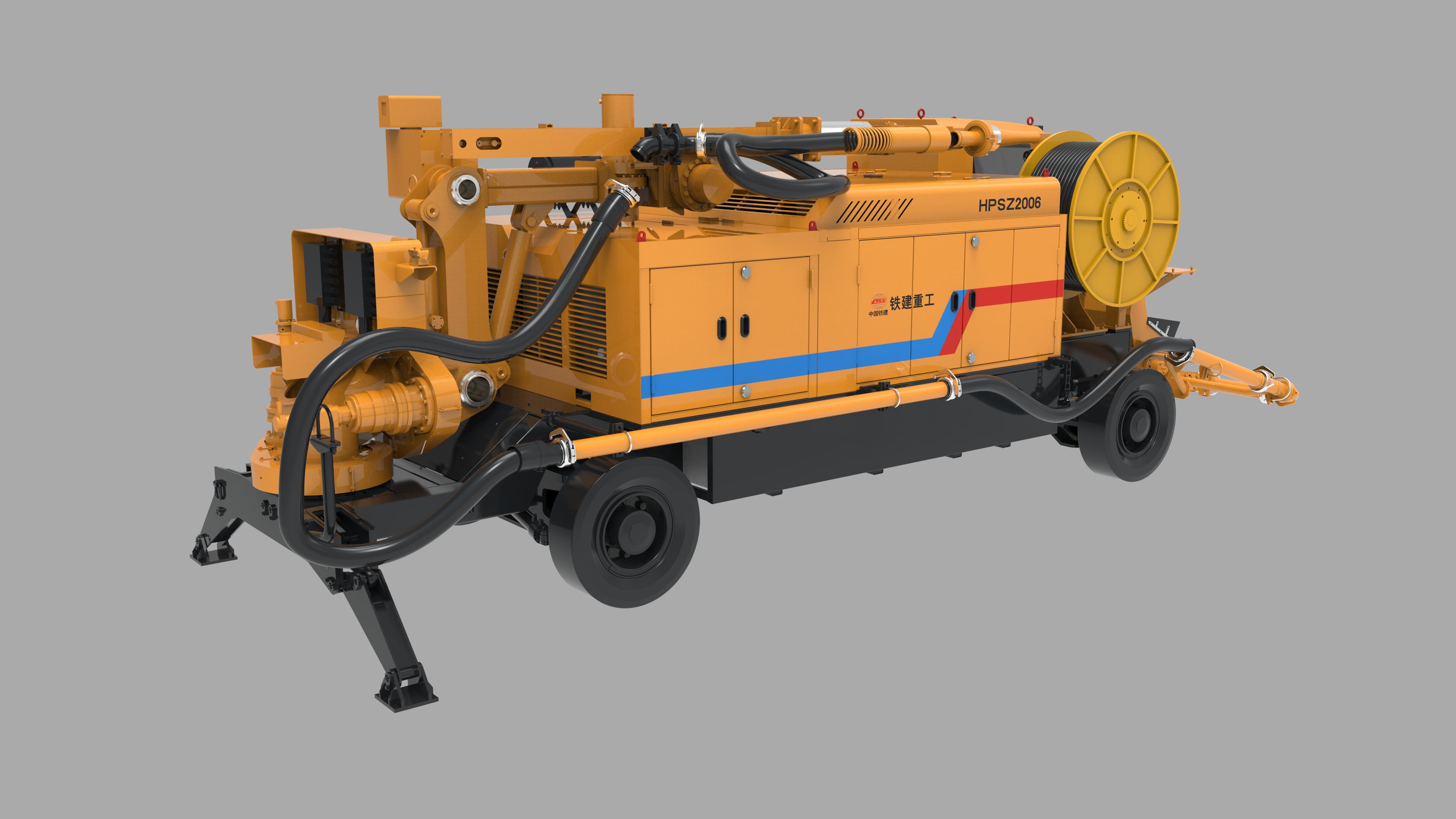 Concrete spraying equipment for mining applicaiton