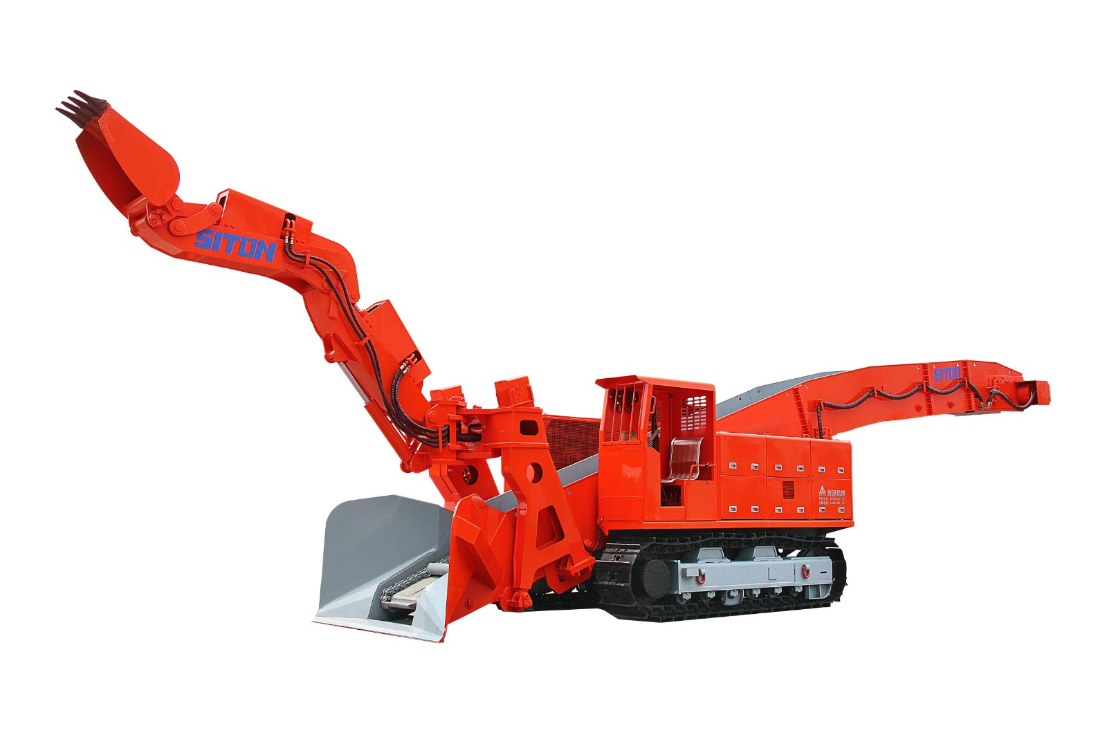 Crawler mucking loader