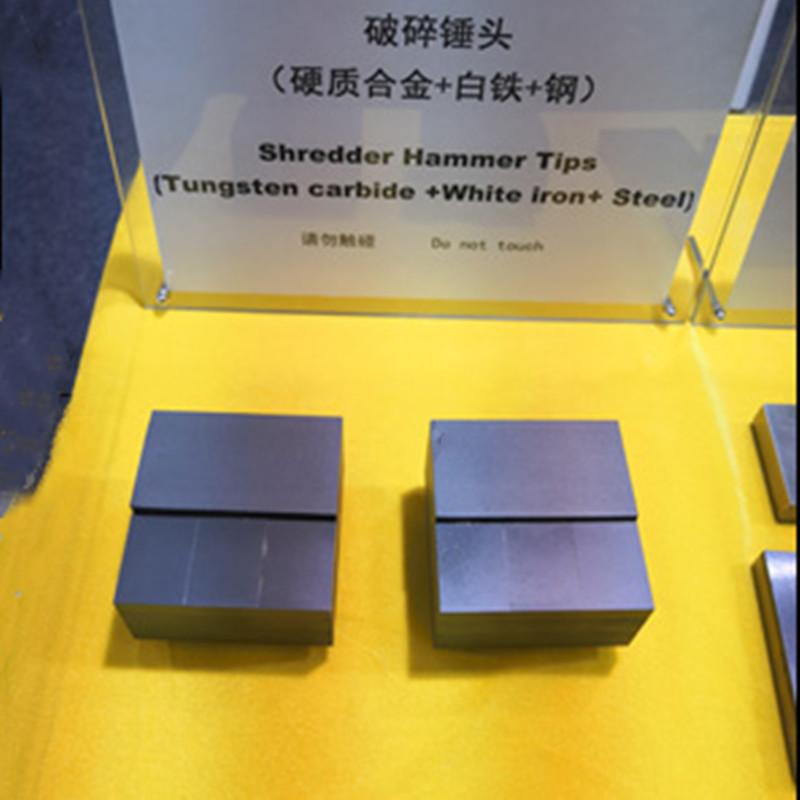 Shredder Hammer Tipsr(Tungsten Carbide+White Iron+Steel)