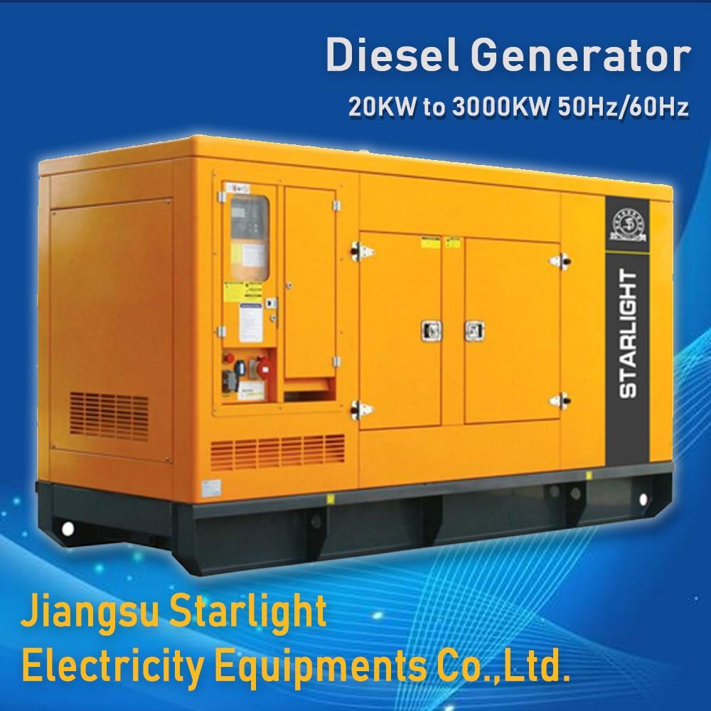 25kva~3125kva silent diesel generator set