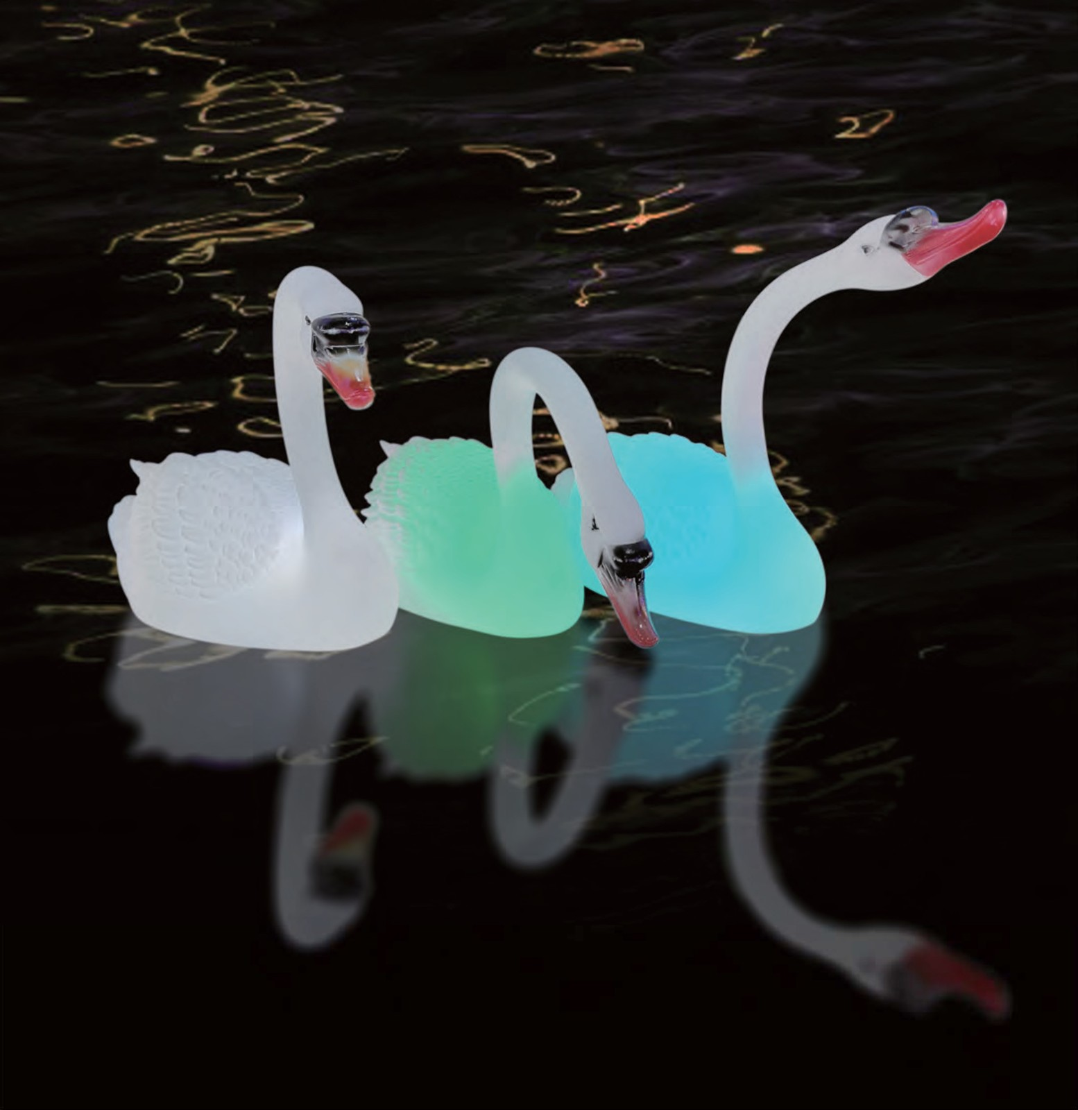 Smart Control Outdoor Swan Style Light water proof with certificates