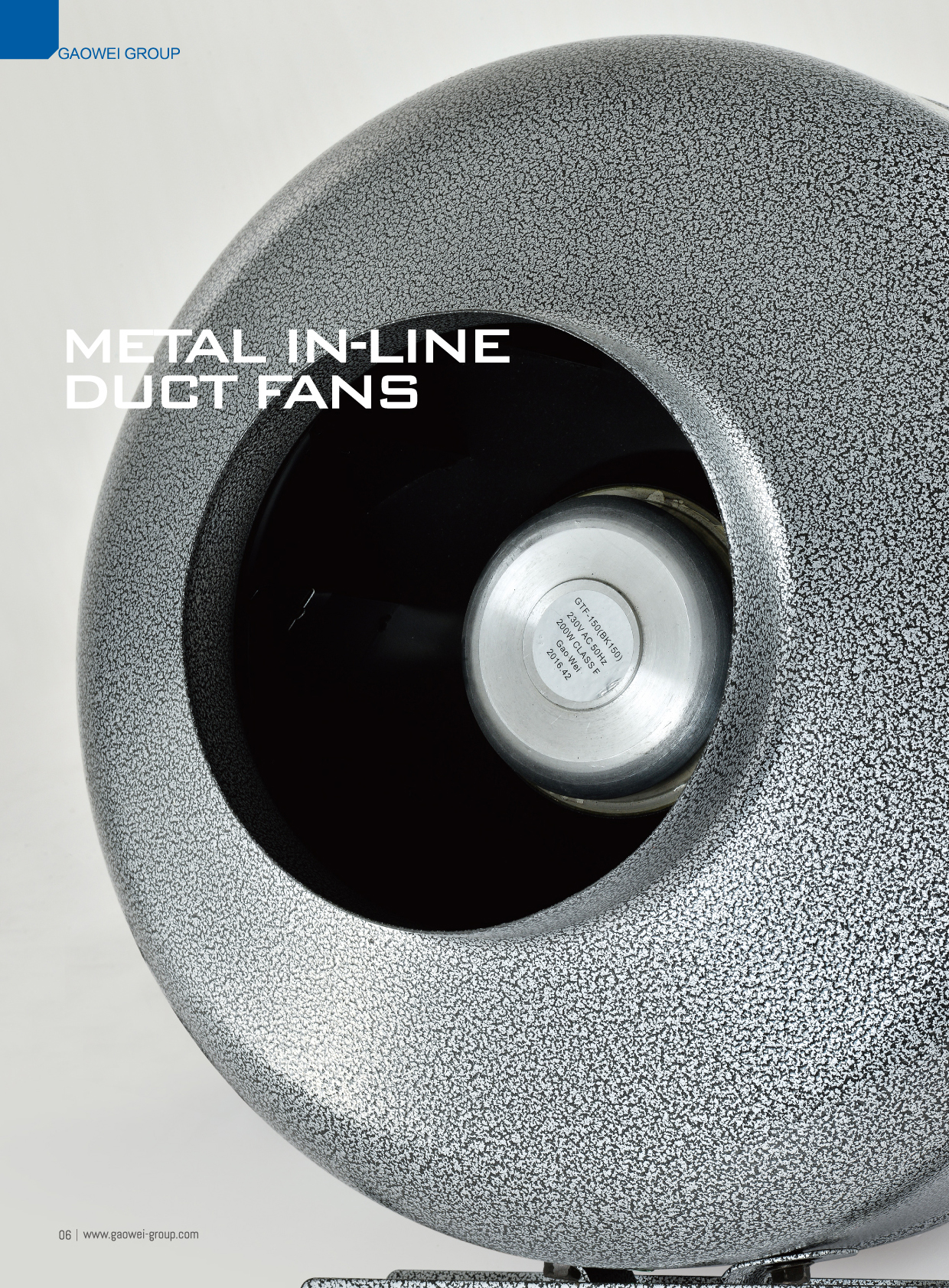 Metal In Line Duct Fan