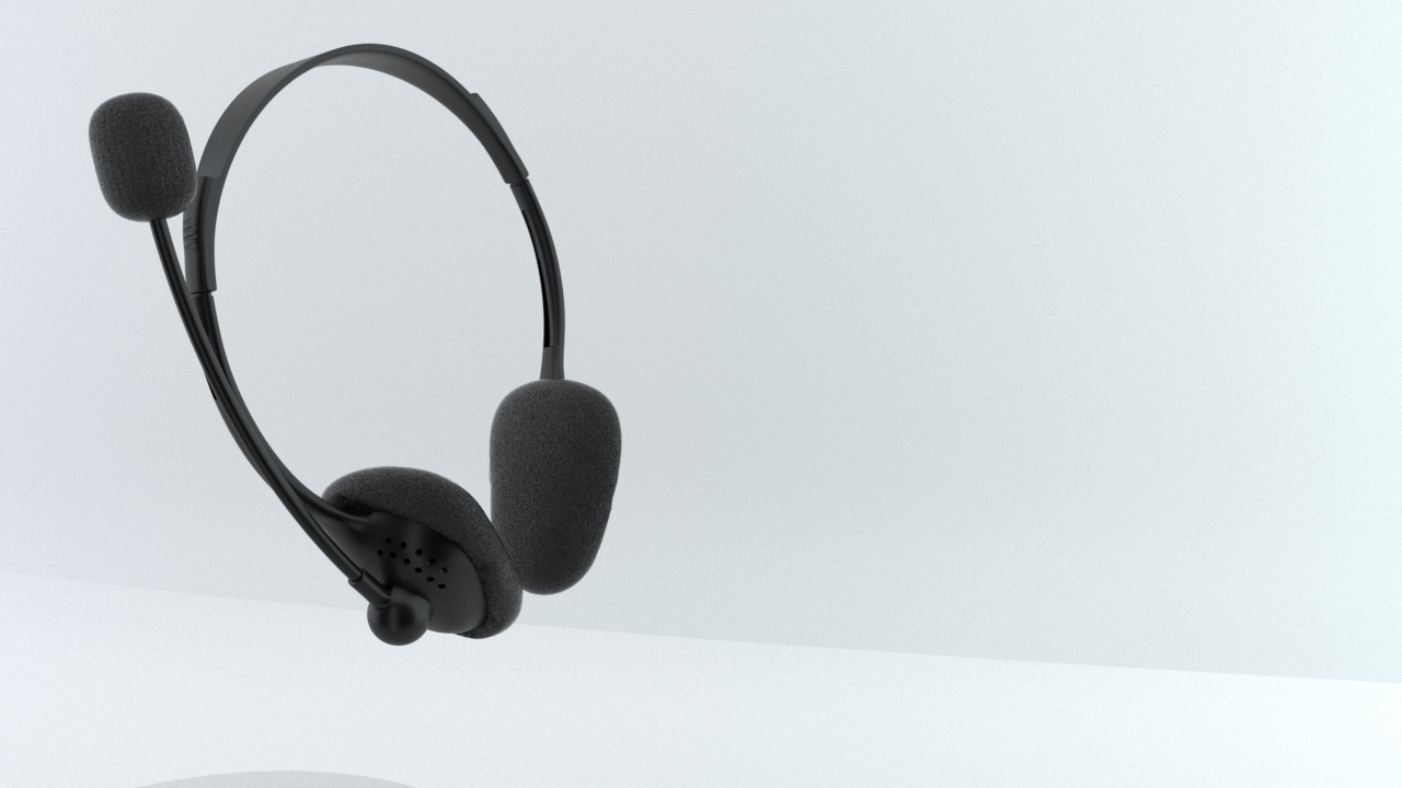PC headphone/ headphone with clear Mic
