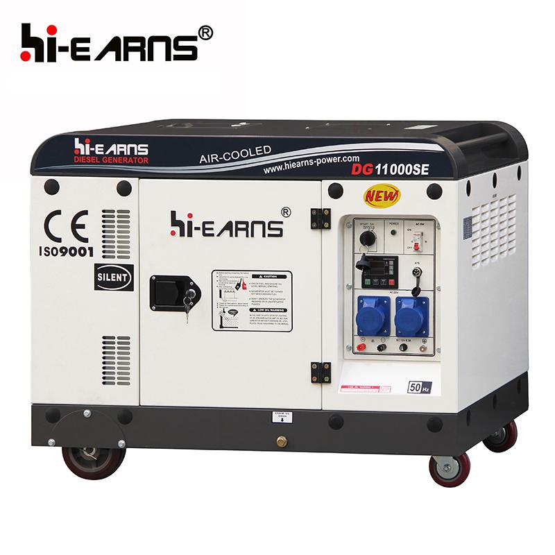 7.5KW air cooled silent diesel generator