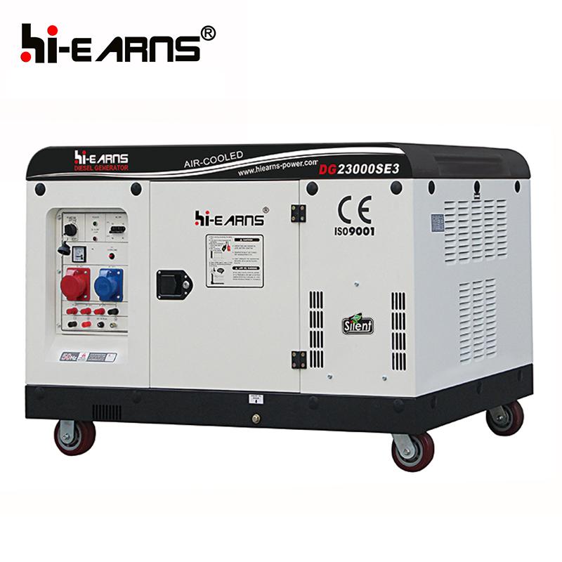 16KW silent 2V98 air cooled two cylinder diesel generator