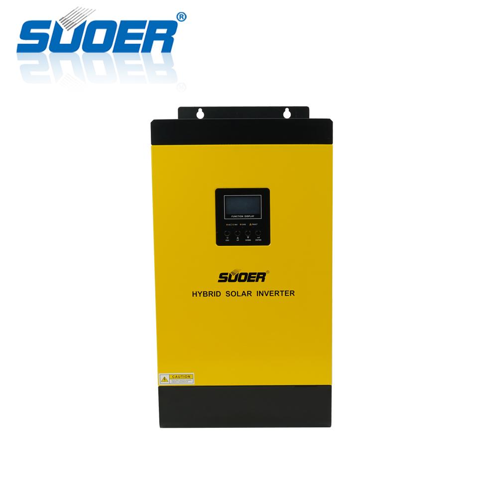 Suoer 230V 24V 3000W high frequency hybrid inverter built-in MPPT solar charge controller