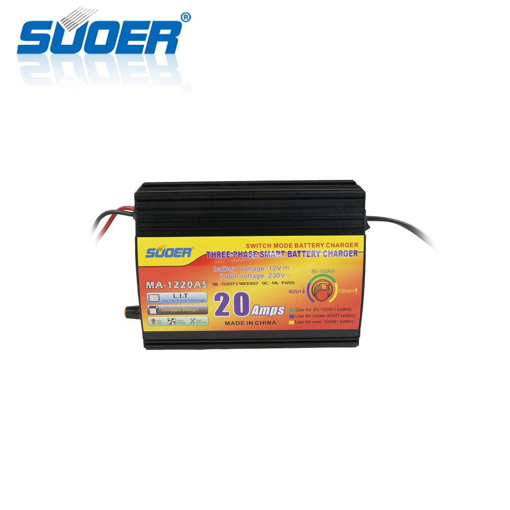 Suoer 20A 12V 230V intelligent battery charger