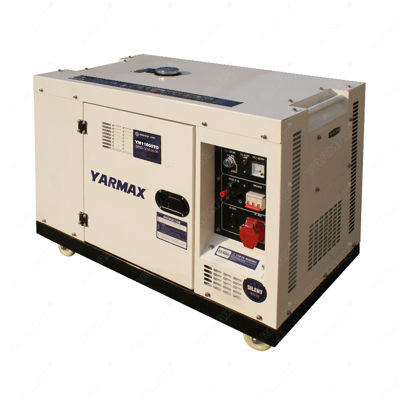 Yarmax 8kva 8.8kva Single Cylinder Silent Type Diesel Generator