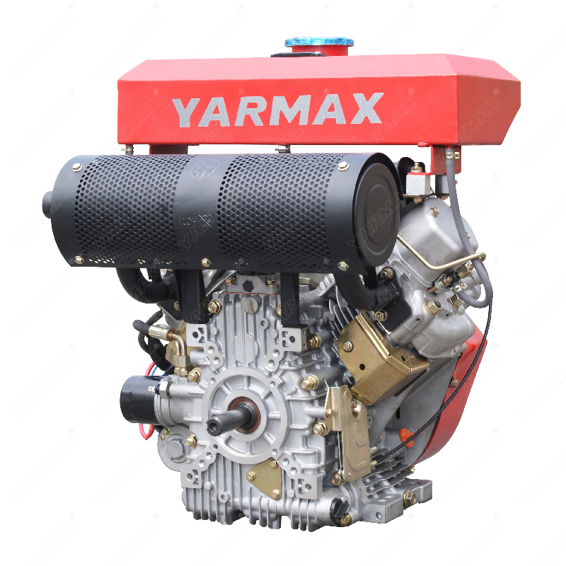 Yarmax double cylinder air cooled diesel engine