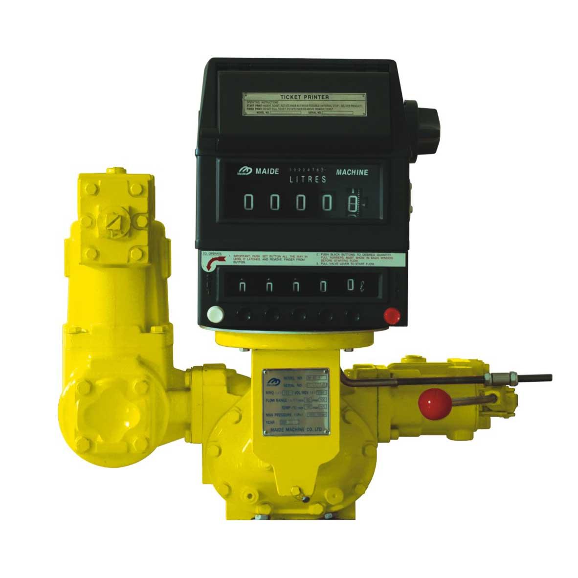 Preset flow meter with printer