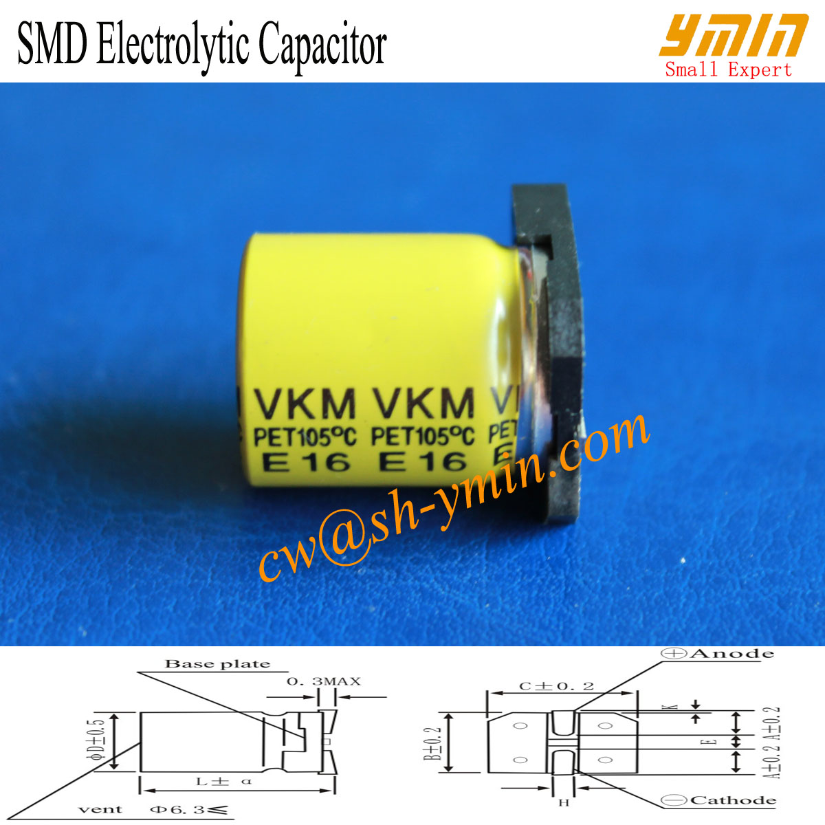 Long Shelf Life SMD Capacitor SMD Aluminium Electrolytic Capacitor