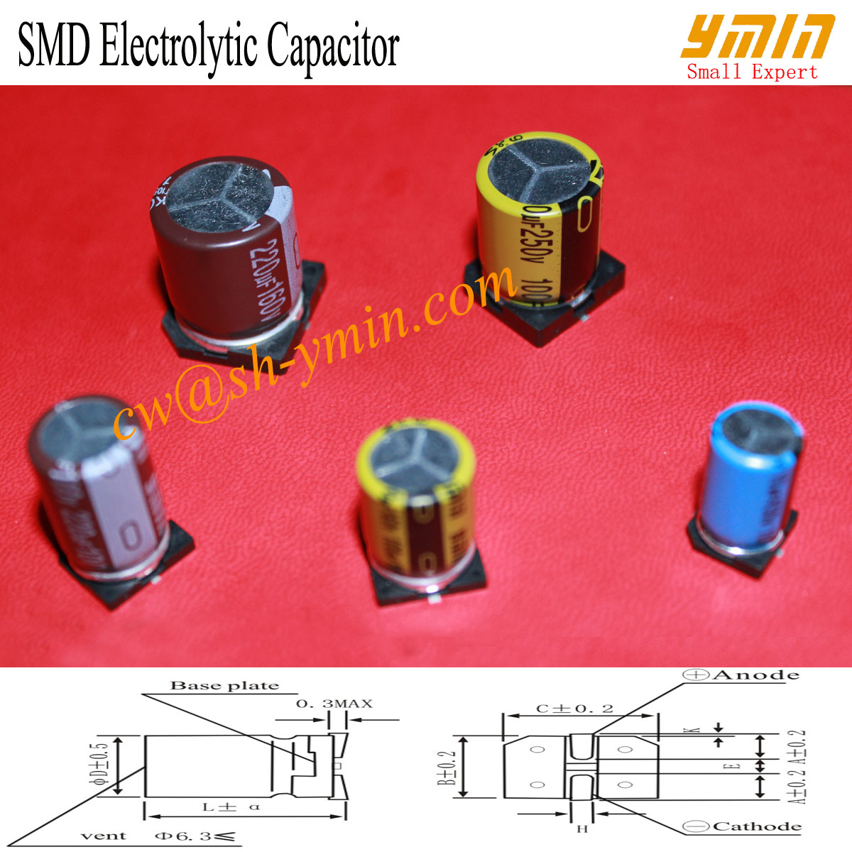Super Small SMD Capacitor 7mm Height SMD Aluminium