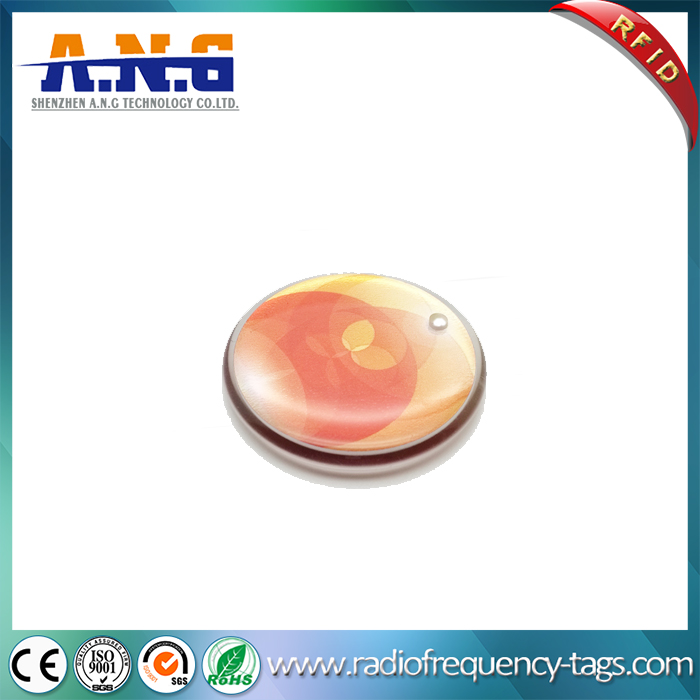 13 56Mhz Waterproof RFID Passive Soft Clear Epoxy Resin Card Tag