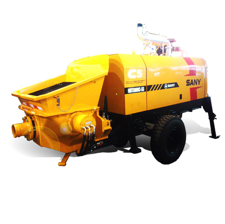 HBT5008C-5S 50m3/h Diesel Trailer Pump