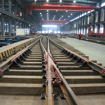 No.9 Single Turnout with 60kg/m Rails