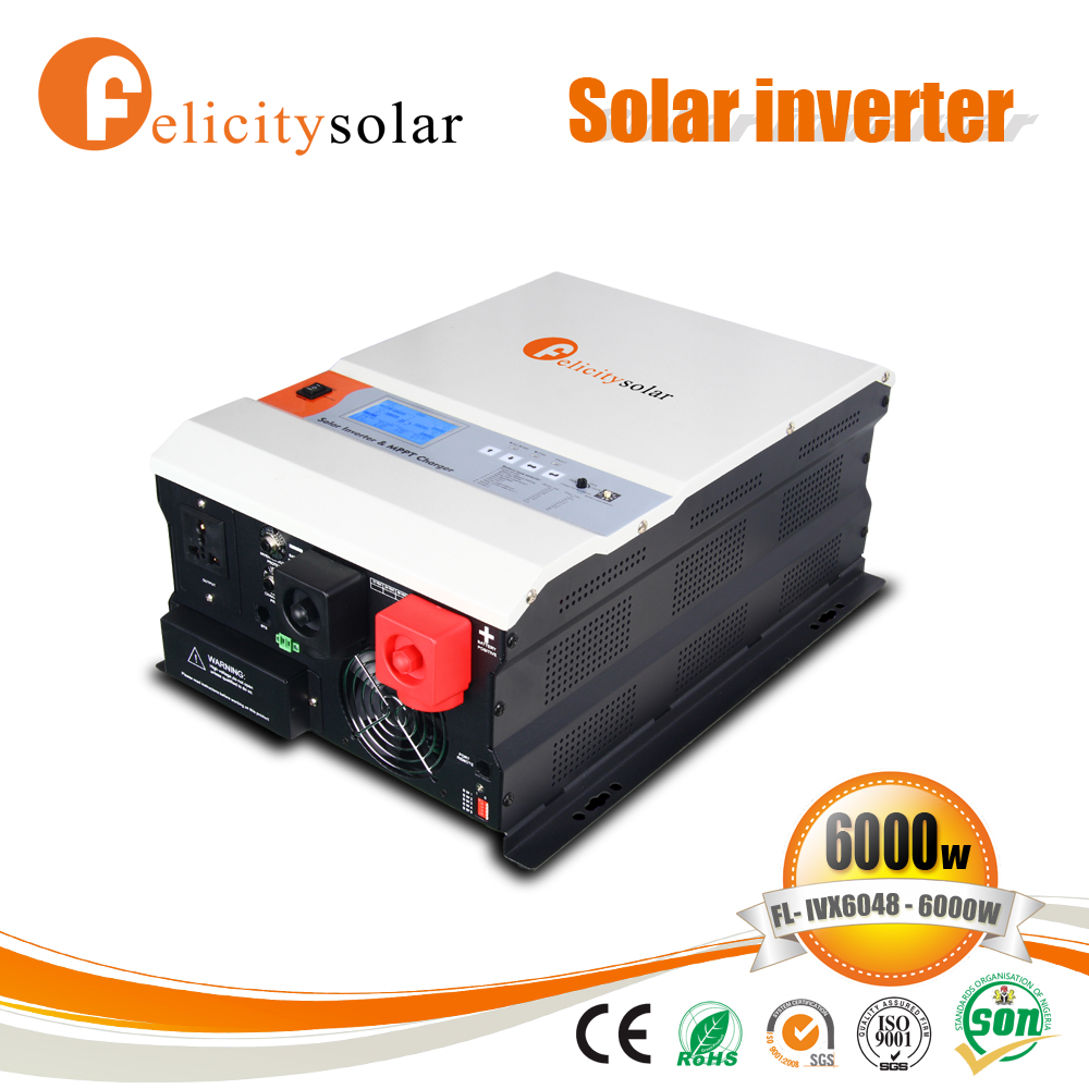 Off grid inbuilt mppt power inverter price 6kw with battery