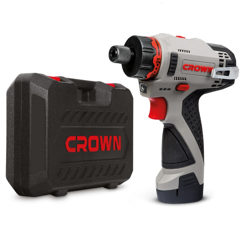 CROWN Cordless Screwdriver 12V 2AH Li-ion Power Tools CT21072HBX-2 BMC