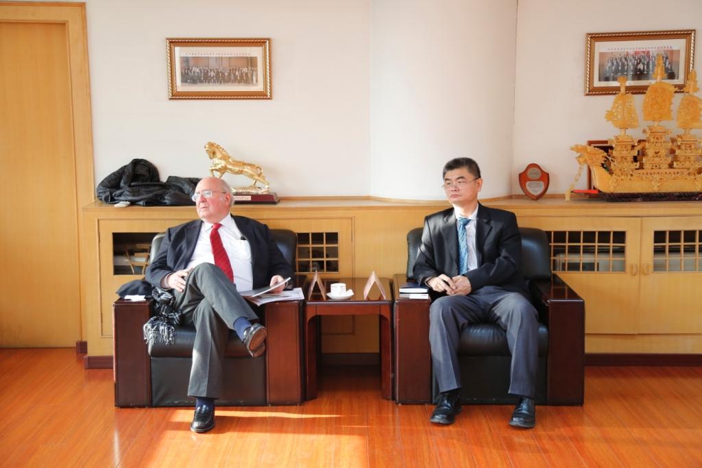 王贵清副会长会见智利前驻华大使一行