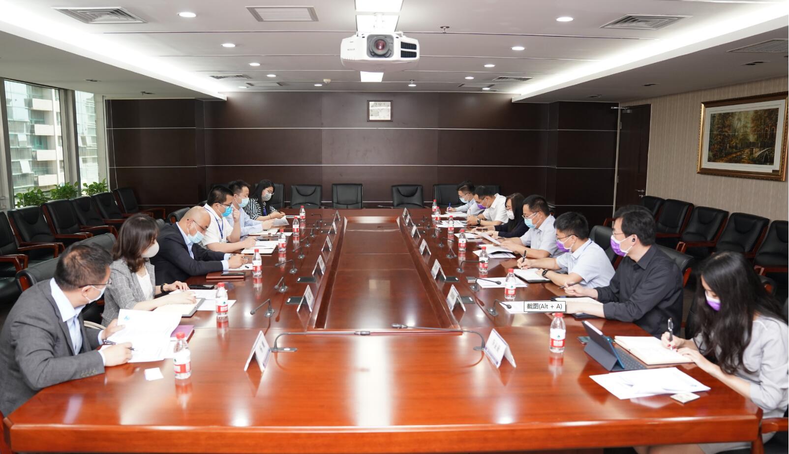 中国葛洲坝集团国际工程有限公司副总经理胡鹏一行到访商会