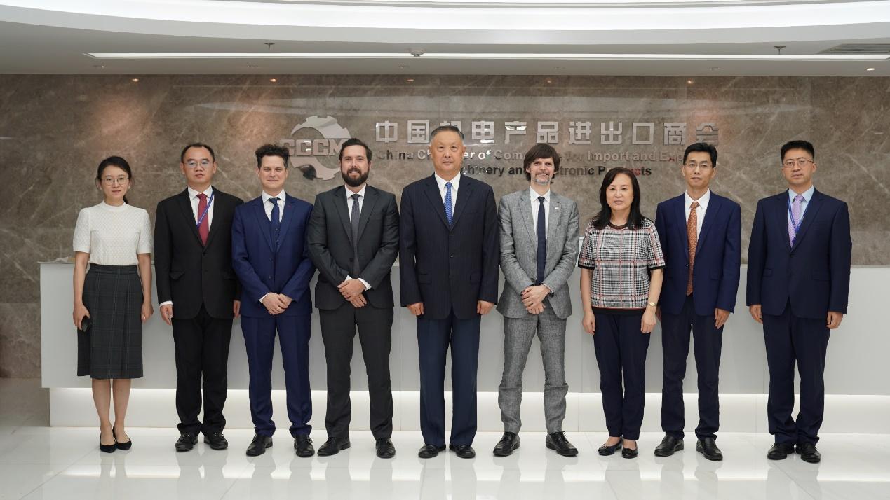 张钰晶会长会见阿根廷新任驻华公使萨比诺. 巴卡纳瓦哈
