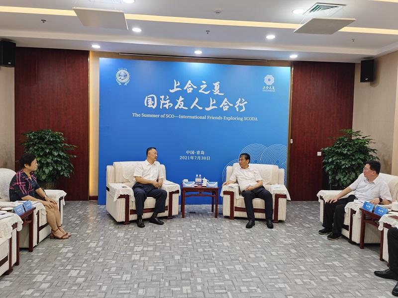机电商会张钰晶会长调研中国-上合组织地方经贸合作示范区
