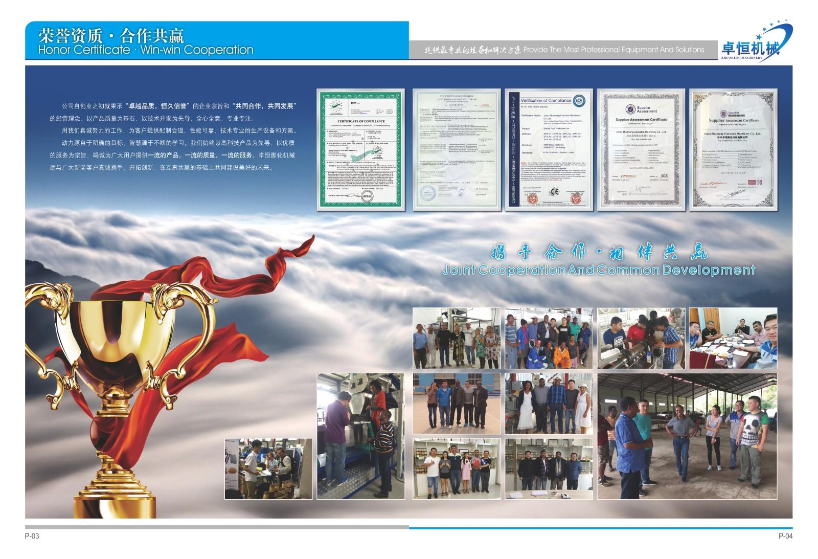 Jinan Zhuoheng Extrusin Machinery Co.,Ltd.